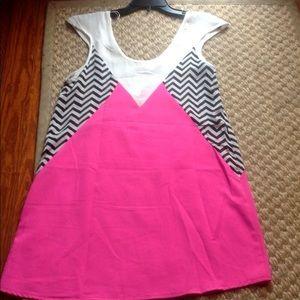 NWT Rumor Boutique Neon Geometric Tunic or Dress